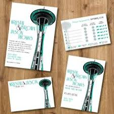 seattle wedding invitations set sle set by southcitypress