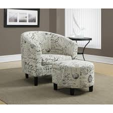 Accent Chairs And Ottomans Vintage Fabric Accent Chair And Ottoman Free Shipping