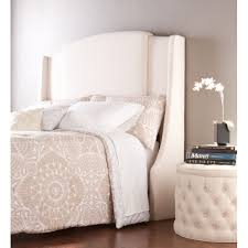 bed with upholstered headboard white full size headboard mirror