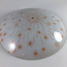 Glass Ceiling Light Covers Vintage Starburst Atomic Mid Century From Living A Vintage