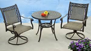 Agio 7 Piece Patio Dining Set - agio ashmost 3 piece sling swivel rocker chair and round cast