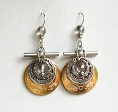 michael richardson earrings etched silver and gold earrings by michael richardson