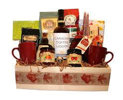 canadian gift baskets breakfast crate coffee liqueur brighten their day okanagan