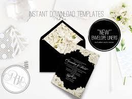 peonies wedding invite template invitation templates creative