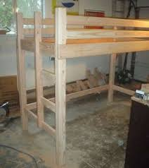 Free Plans For Bunk Beds With Desk by Free Diy Full Size Loft Bed Plans Awesome Woodworking Ideas How To