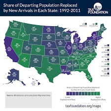 Migration Map The Facts On Interstate Migration Part Five Tax Foundation
