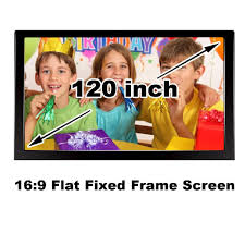 screen size for home theater projection screen cinema size 120 inch 16 9 brightness for home
