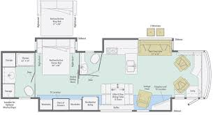 Type B Motorhome Floor Plans Journey Floorplans Winnebago Rvs