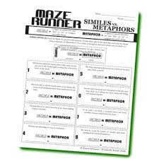 the maze runner figurative language bundle by created for learning