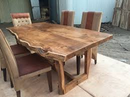 Solid Walnut Dining Table And Chairs Sundara Live Edge Table Solid Wood Live Edge Dining Tables