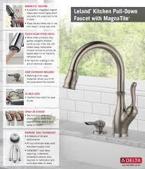 delta leland pull down kitchen faucet gallery with new