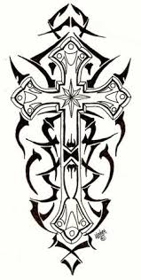 25 amazing cross calf tattoos