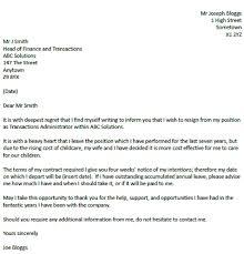 simple resignation letter professional resignation letter format