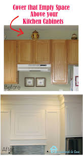 how to trim cabinets closing the space above the kitchen cabinets remodelando