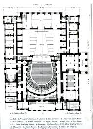 National Theatre Floor Plan by Theatre Database Theatre Architecture Database Projects