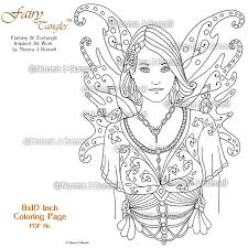 fairy tangles printable coloring pages norma burnell