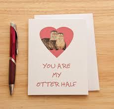 otter half card anniversary card other half