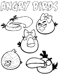 angry birds coloring pages for kids