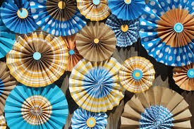 diy decorations paper fans with free templates toriorioria