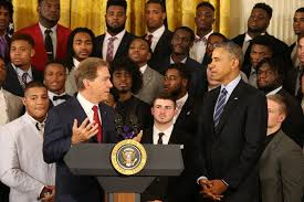 White House Tours Obama Nick Saban And Alabama Crimson Tide Feted By Obama At The White