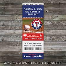 baby shower baseball ticket invitations printable baseball ticket