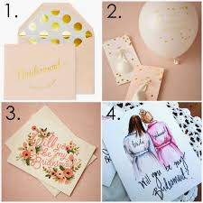 Cute Will You Be My Bridesmaid Ideas Chic