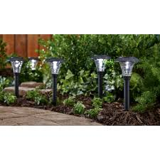 Solar Powered Landscaping Lights Mainstays Pebbled Cone 8 Solar Powered Landscape Lighting