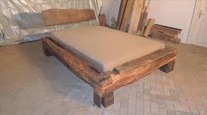 Schlafzimmer Aus Holz Bett Design Bett Aus Balken Holz Altholzdesign Eiche Havana