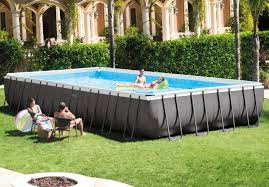 Intex Metal Frame Swimming Pools 32ft X 16ft X 52in Ultra Frame Pool Set Intex