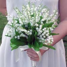 of the valley bouquet artificial of the valley bridal bouquet permabloom