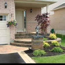 Front Entrance Landscaping Ideas Front Entrance Landscaping Front Yard Landscaping Interlocking