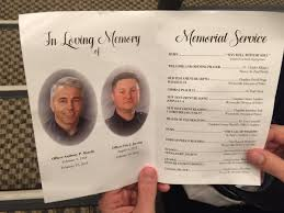sle of funeral programs photos remembering fallen westerville officers morelli and