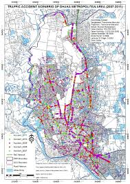 2007 World Map by Road Accidents On A Dhaka City Map 2007 2011 7 Figure 2 Of 2
