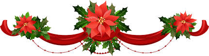 christmas garland transparent christmas garland with poinsettias png clipart