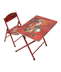 happy kids foldable study table and chair cars buy happy kids