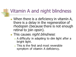 Vitamin A Deficiency Causes Night Blindness Unit 8 Fat Soluble Vitamins Paz Etcheverry Ns Ppt Download