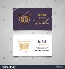 architectural business card templates set vector stock vector