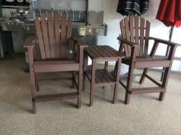 3 piece adirondack shellback balcony height set w end table by