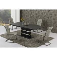 Black Stone Dining Table Top Arctic Black Glass And White High Gloss Extending Dining Table
