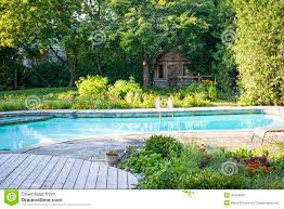 Swimming Pool In Backyard by Garden And Swimming Pool In Backyard Stock Photo Image 47414061