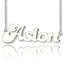 Custom Name Necklaces Ghetto Name Necklace Sterling Silver