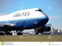 United Airline Stock United Airlines Boeing 747 400 Airplane Editorial Stock Image