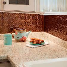 fasade kitchen backsplash panels fasade 24 in x 18 in hammered pvc decorative backsplash panel in