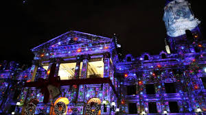 Outdoor Projector Christmas Lights by Christmas 3d Light Projection Show Melbourne Youtube