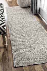 Outdoor Runner Rug Oliver Rowan Handmade Grey Braided Runner Rug 2 6 X 8