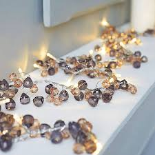 graphite crystal light garland by red lilly notonthehighstreet com