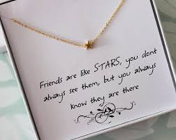 necklace gift images Star necklace with message card friendship necklace jewelry jpg