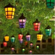 Outdoor Lantern String Lights by Set Of 40 Mains Operated String Coloured Garden Indoor Outdoor