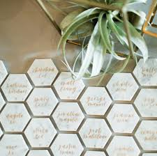 diy place cards diy marble hexagon place cards grace niu design wedding