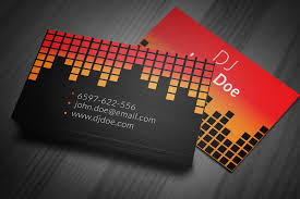 lovely gallery of dj business cards business cards design ideas